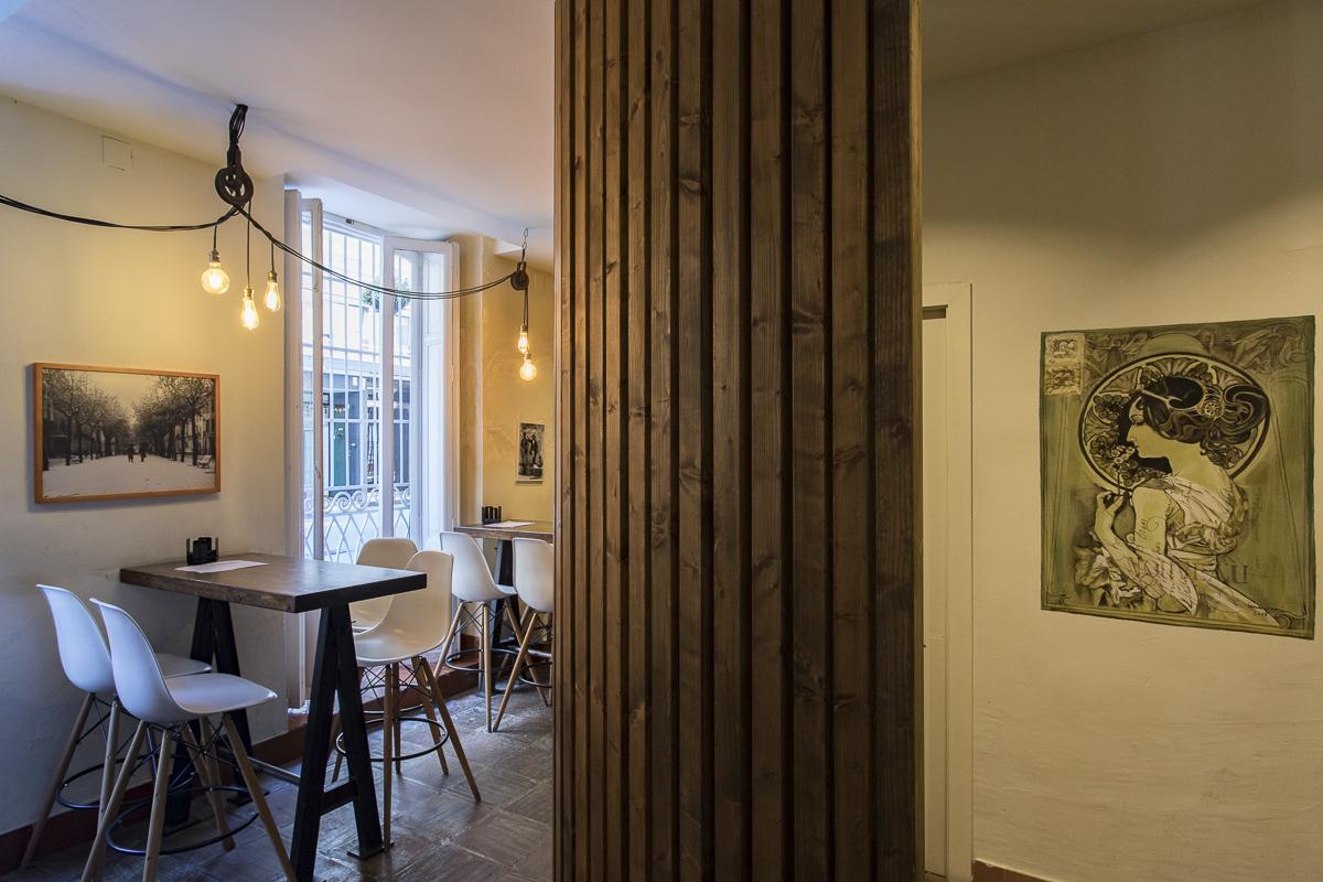Zona acceso baños Restaurante Visconti. Inma Gregori 2015. Fotografía @GITANETA