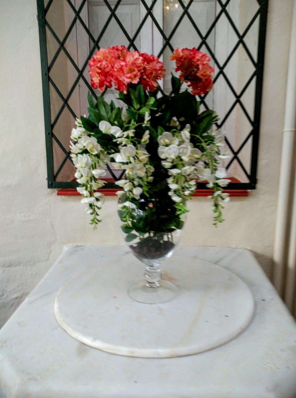 Detalle, arreglo floral para el pozo del comedor principal en Visconti. Inma Gregori 2015.