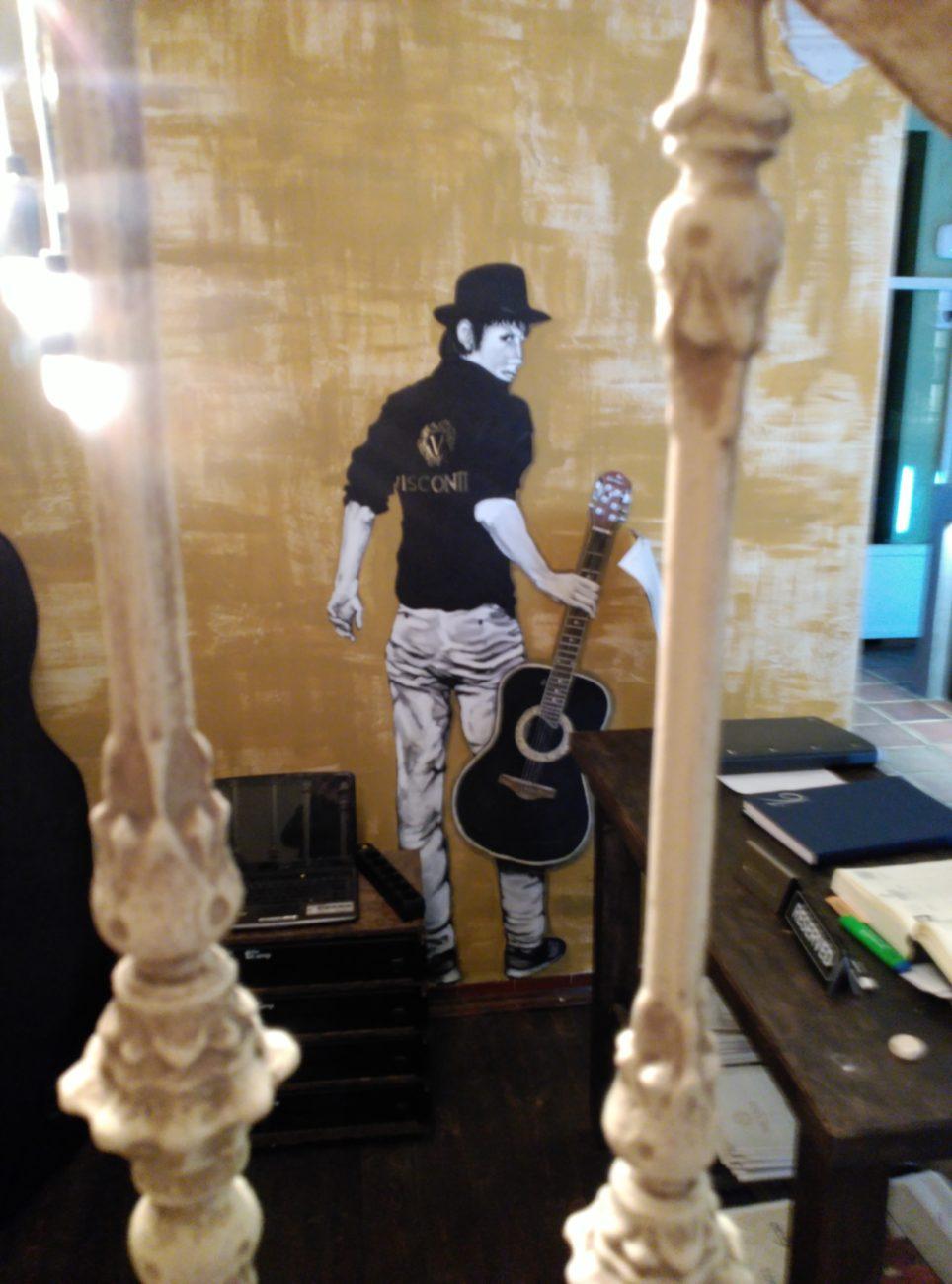 Detalle, pintura mural en Visconti. Inma Gregori 2015.