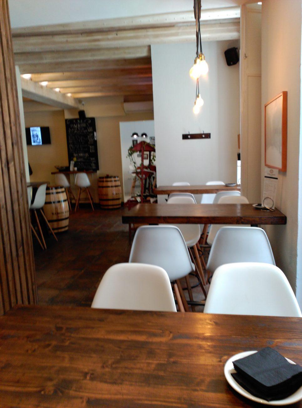 Vista Zona Gastro, Visconti. Decoración de interior Inma Gregori 2015.